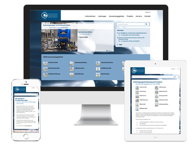 GERB Relaunch global Website und landesspezifische Websites