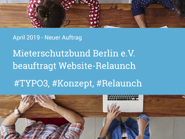 Mieterschutzbund Berlin beauftragt Website-Relaunch