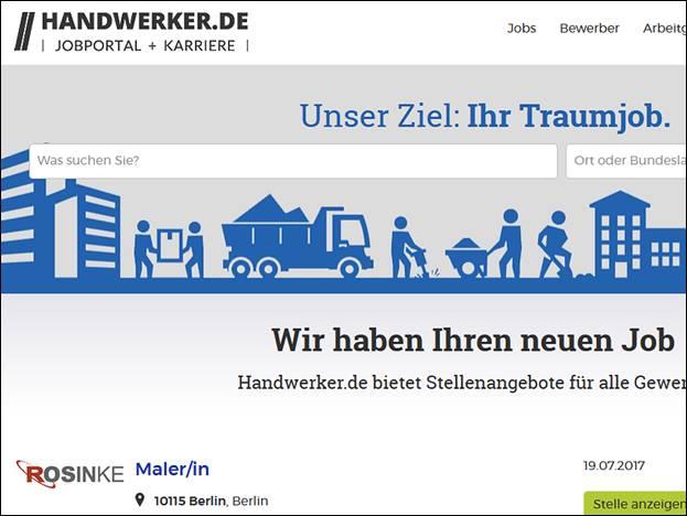 Handwerker Berlin handwerker de das stellenportal für das handwerk was ist neu